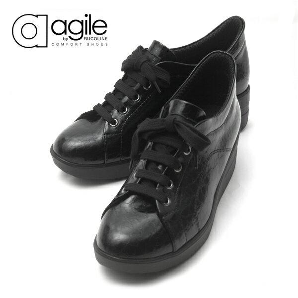 ルコライン アージレ agile RUCO LINE 靴 BABY CROCO ローカット ブラック 黒 agile-205