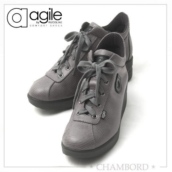 ルコライン アウトレット RUCO LINE agile アージレ 靴 LIZARD リザード型押し グレー サイドファスナー付き agile-126GY|pendant