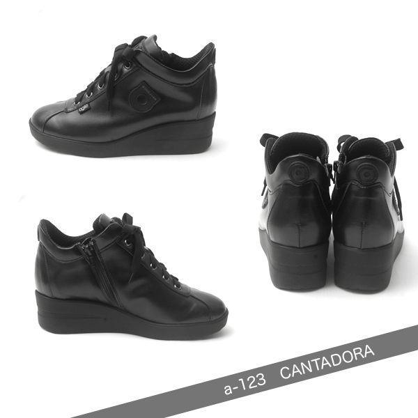 ルコライン スニーカー アージレ agile RUCO LINE 靴 CANTADORA マット ブラック 黒 ファスナー付き agile-123BK|pendant|02