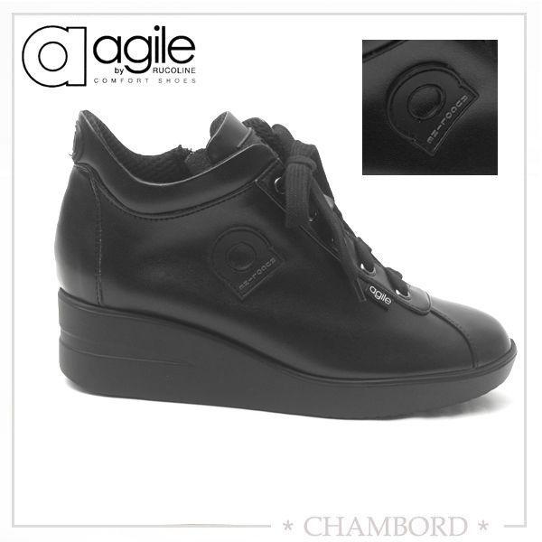 ルコライン スニーカー アージレ agile RUCO LINE 靴 CANTADORA マット ブラック 黒 ファスナー付き agile-123BK|pendant|04