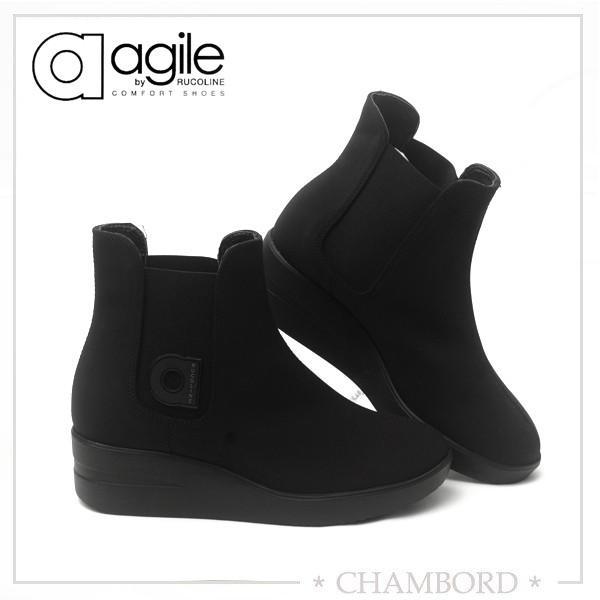 ルコライン ブーツ アージレ agile RUCO LINE 靴 DIVINA サイドゴア ショートブーツ 黒 リッチブラック agile-314|pendant|02
