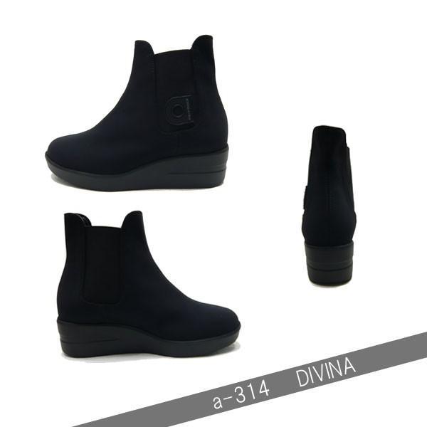 ルコライン ブーツ アージレ agile RUCO LINE 靴 DIVINA サイドゴア ショートブーツ 黒 リッチブラック agile-314|pendant|04