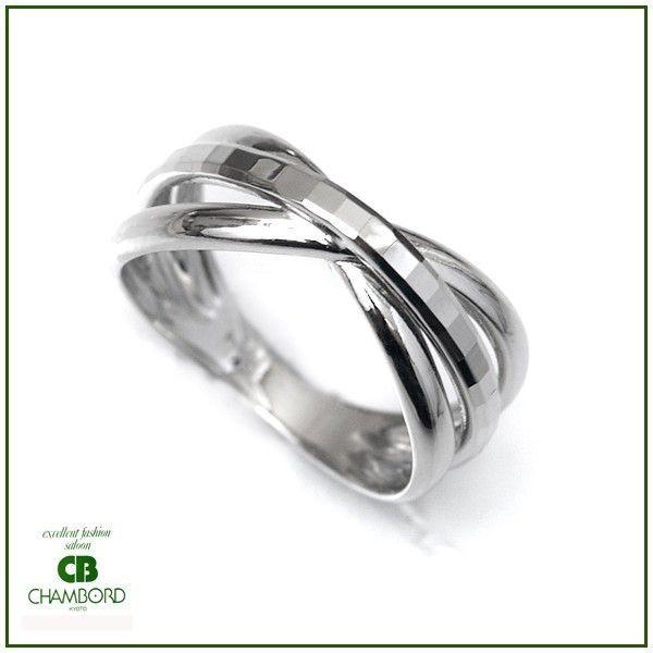 プラチナ 指輪 プラチナリング Pt900 キラキラ 多面 カットリング クロス リボン デザイン|pendant|06