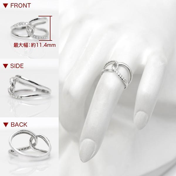 ダイヤモンド リング スタイリッシュ ウェーブ 指輪 K18WG/D:0.20ct|pendant|03