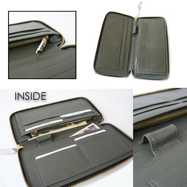 パイソン 財布 ラウンドファスナー Lサイズ 大きい財布 手帳型 ペン差し付き ナチュラルカラー|pendant|04