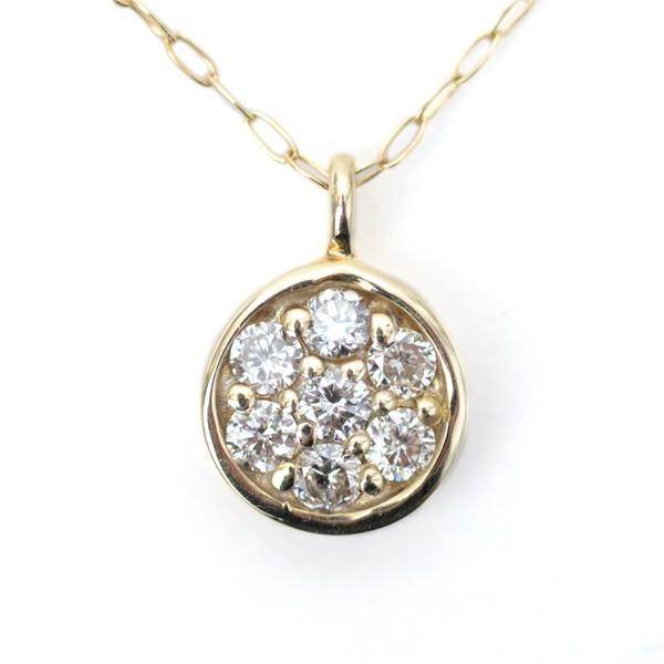 ダイヤモンド ネックレス 0.13ct K10 イエローゴールド ラウンド ペンダント 天然 ダイヤモンド ネックレス|pendant|03