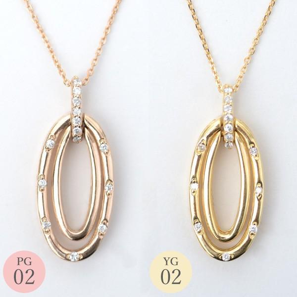 リバーシブル ネックレス ダイヤモンド ネックレス 形が変わる 4WAY 変身 ペンダント 18金ネックレス K18 0.3ct|pendant|03