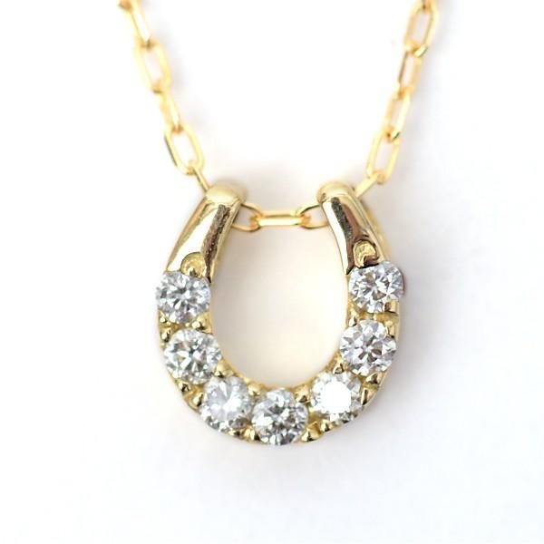 幸せのモチーフ 7色 アミュレット ダイヤモンド ネックレス リバーシブル 馬蹄 厄除け お守り ペンダント K18WG・YG|pendant|05