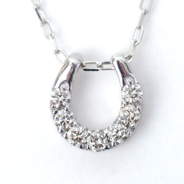 幸せのモチーフ 7色 アミュレット ダイヤモンド ネックレス リバーシブル 馬蹄 厄除け お守り ペンダント K18WG・YG|pendant|08