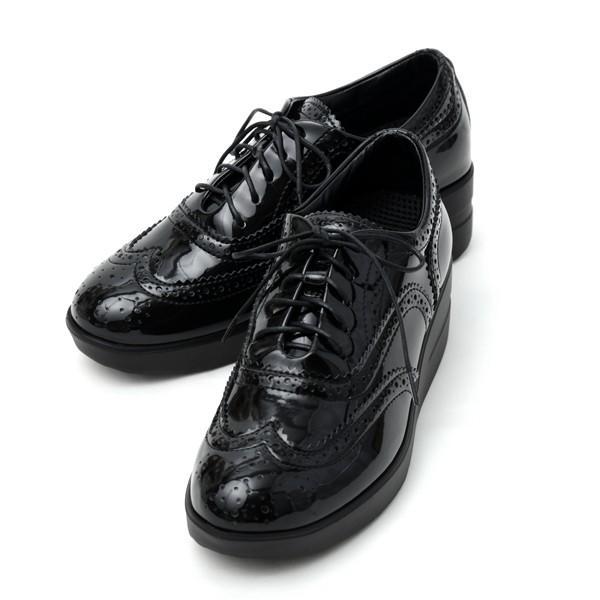 ルコライン アージレ 靴 VERNICE ブラック ローカット シューズ 黒 agile-230BK|pendant