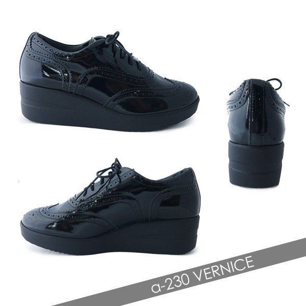 ルコライン アージレ 靴 VERNICE ブラック ローカット シューズ 黒 agile-230BK|pendant|03