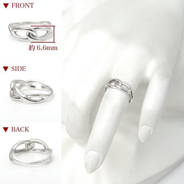 プラチナ 指輪 プラチナリング Pt900 インフィニティ モチーフ デザイン リング|pendant|04