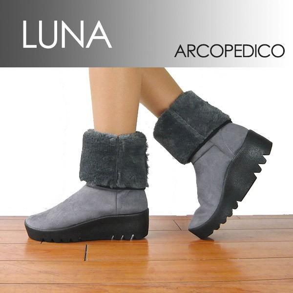 エリオさんの靴 アルコペディコ LUNA ルナ ムートン 調 ブーツ ポルトガル製 キャタピラーソール サイズ交換・返品不可|pendant
