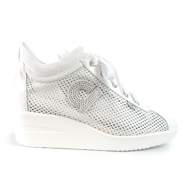 ルコライン スニーカー アージレ 靴 メッシュ ホワイト 白 CHAMBERS STRASS agile-180WH|pendant|04