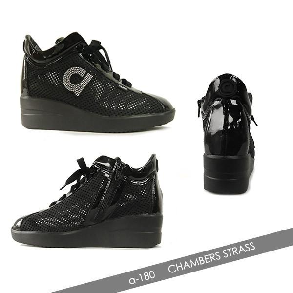 アージレ バイ ルコライン サイドファスナー付 メッシュ スニーカー ブラック 黒 靴 CHAMBERS STRASS agile-180BK agile by RUCO LINE|pendant|02