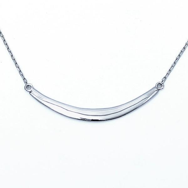 プラチナ ネックレス スマイル ネックレス レディース 約43cm 月形 アーチ ネックレス バーネックレス Pt900 Pt850|pendant|10