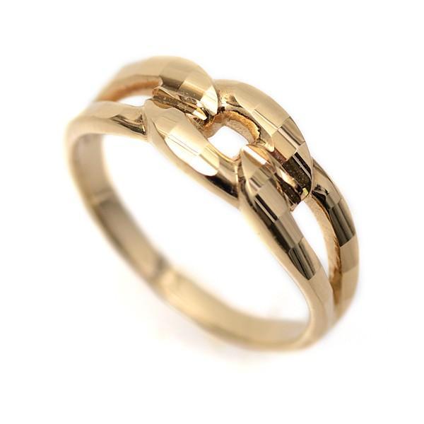 18金 リング 指輪 k18リング 18金ゴールドリング キラキラ 多面カット 鎖 デザイン K18YG 18金イエローゴールド ファッションリング|pendant|06