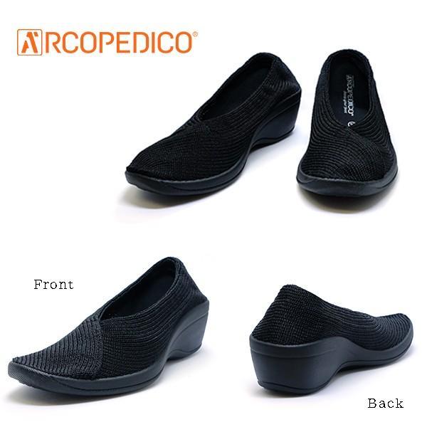 アルコペディコ ARCOPEDICO MAILU マイル ブラック 黒 エリオさんの靴 クラシックライン ニットアッパー 4.5cmヒール ポルトガル製 pendant 03