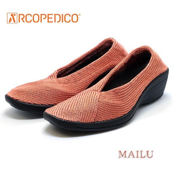 アルコペディコ ARCOPEDICO MAILU マイル スモークピンク エリオさんの靴 クラシックライン ニットアッパー 4.5cmヒール ポルトガル製 pendant