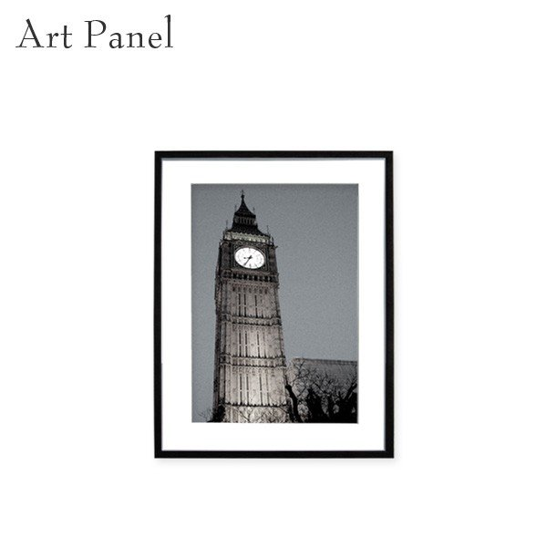 壁掛け インテリア アートパネル ロンドン イギリス 写真 おしゃれ 街並み 額縁 絵画 モノクロ ポスター 額付 pengiiino-store