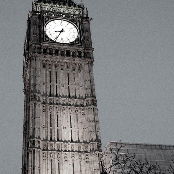 壁掛け インテリア アートパネル ロンドン イギリス 写真 おしゃれ 街並み 額縁 絵画 モノクロ ポスター 額付 pengiiino-store 02