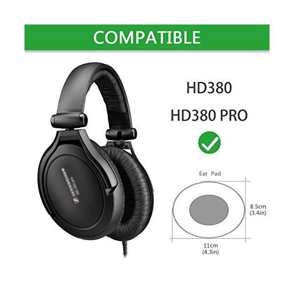 Geekria イヤーパッド ゼンハイザー HD380, Sennheiser HD380 pro, ヘッドセット に 等対応交換用 ヘッドホンパッ