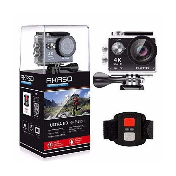 AKASO EK7000 4K WIFI スポーツ カメラ HD 1200万画素30メートル防水170度広角レンズ2インチ LCD 2.4G無線RF