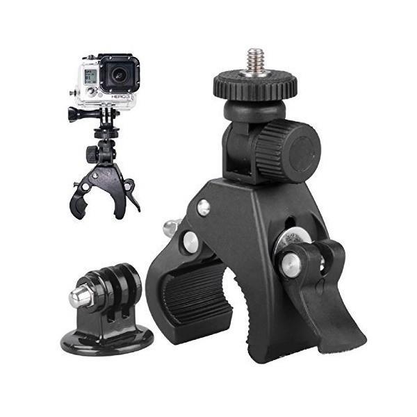 (アグロス) GoPro Hero2 / Hero3 /Hero3+ ロールバーマウント カメラ クランプ 自転車 (クリップ式)