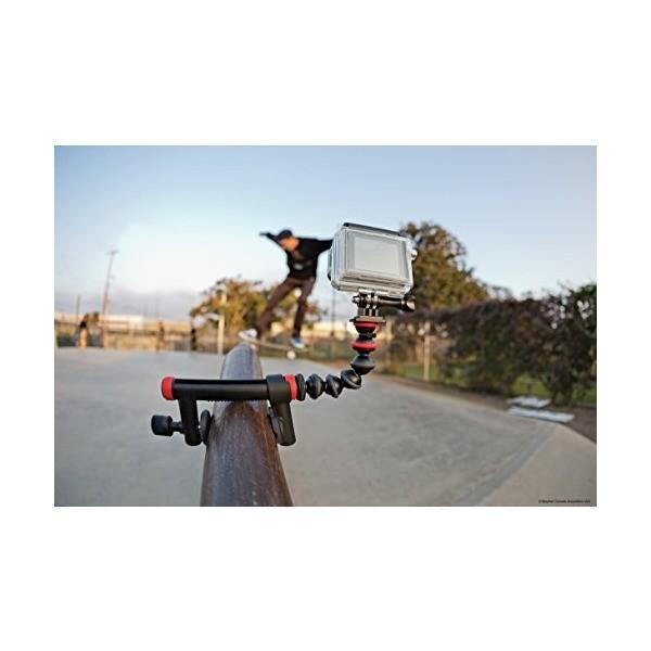 JOBY GoPro HERO5対応アクセサリ アクションクランプ&ゴリラポッドアーム ブラック/レッド 012809