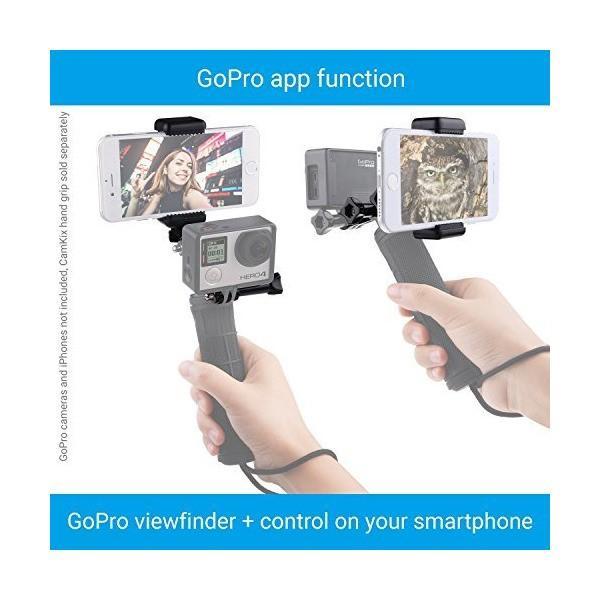 用デュアルマウント GoPro Hero 、ユニバーサルフォンホルダ、三脚アダプター付き ― 同時に2つの異なるカメラアングルでビデオを録画 ― あ