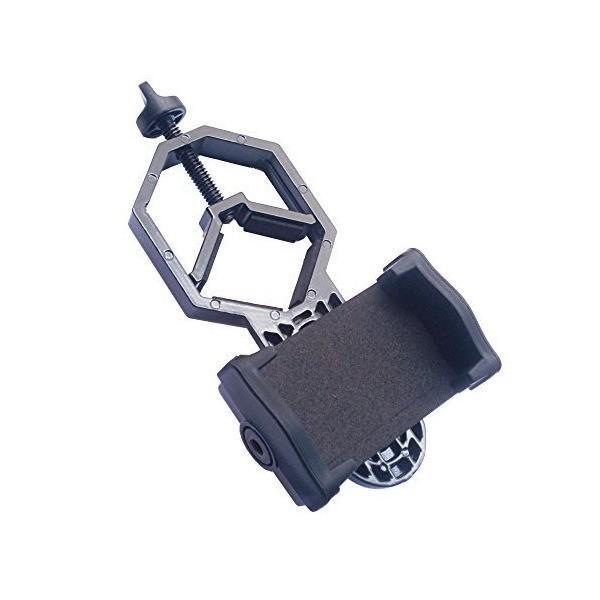 monofive iPhone スマートフォンを望遠鏡 双眼鏡 顕微鏡 フィールドスコープに取付 カメラ撮影できる マウントアダプタホルダー Ver