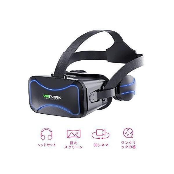MiluoTech VR ヘッドセット, VRゴーグル VRメガネ バーチャルリアリティヘッドセットために VRゲーム 3D映画 アイケアシステム