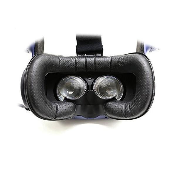 T&B HTC Vive PRO用 革材 フェイスクッション 12mm VR MASK (2個セット)
