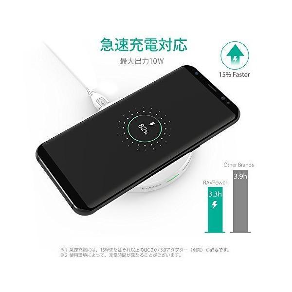 RAVPower Qi ワイヤレス充電器 急速 [Qi認証済み/10W/Fast Charge/最大30ヶ月保証] iPhone X/Xs/Xs M|penguin-design|03