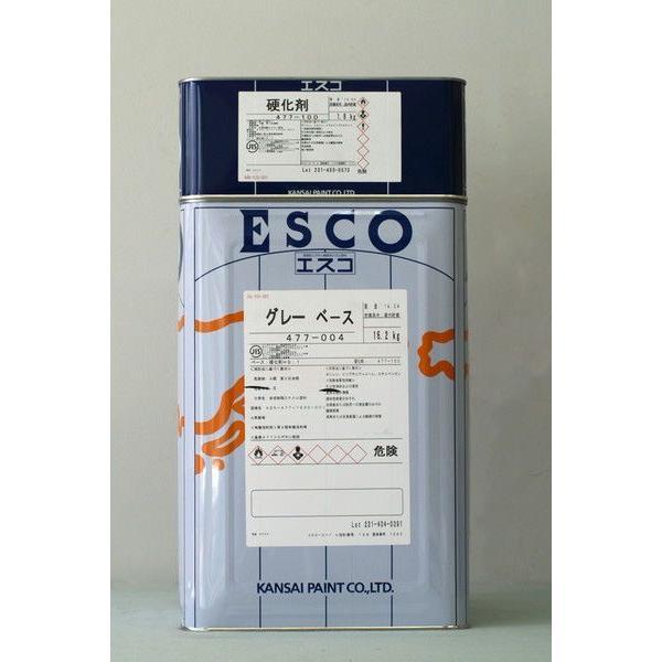 エスコ (グレー) 18Kg/セット 塗料 サビ止め さび止め エポキシ ペンキ 塗装 鉄部 防食 防錆 錆止め 浸透形 JISK5551