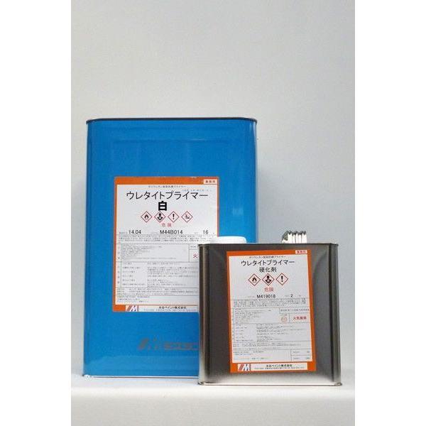 「ベロ付(注ぎ口)」ウレタイトプライマー(白) 18Kg/セット 塗料 ペンキ 屋根 非鉄金属 サビ止め さび止め 錆止め カラートタン トタン アルミ素材