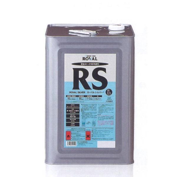 「ベロ付(注ぎ口)」ローバルシルバー RS-20KG 塗料 ペンキ 防食 亜鉛メッキ ROVAL