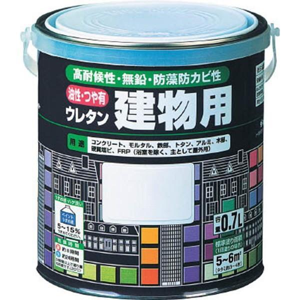 ロックペイント H06-1601 油性・つや有ウレタン建物用(ねずみいろ) 1.6L/缶  多目的 家庭塗料 DIY アサヒペン 鉄部 木部 ロック ロックペイント penki-ippai