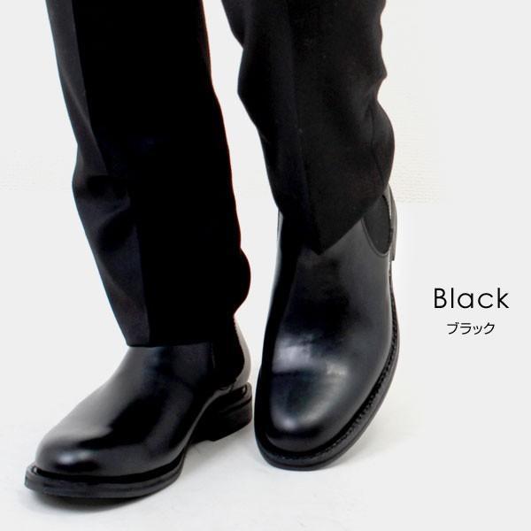 メンズ 本革 オイルレザー サイドゴアブーツ ショートブーツ グッドイヤーウェルト ブラック SOUstant ソウスタント 604|pennepenne|07