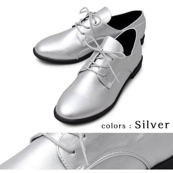 レディース オックスフォードシューズ レースアップ エナメル カジュアル ブラック 靴 A.M.S. エーエムエス 3015|pennepenne|12