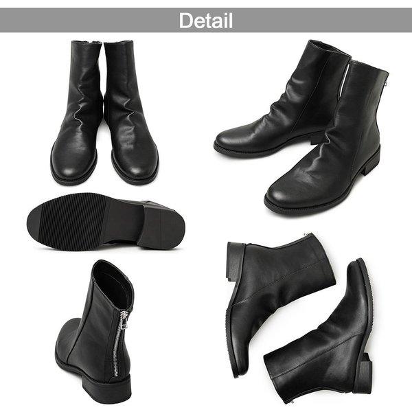 ドレープブーツ メンズブーツ ブラック ダークブラウン|pennepenne|12