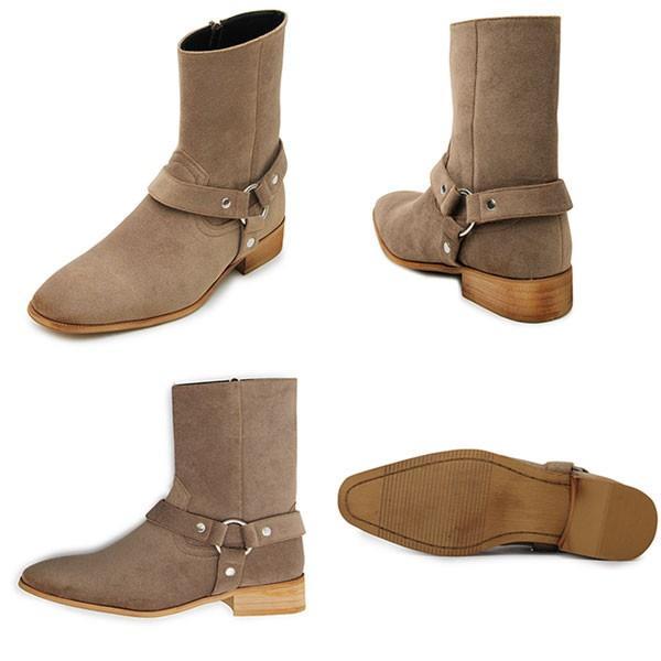 メンズ サイドジップ リングブーツ シューズ カジュアル 靴 GLBB131 pennepenne 03