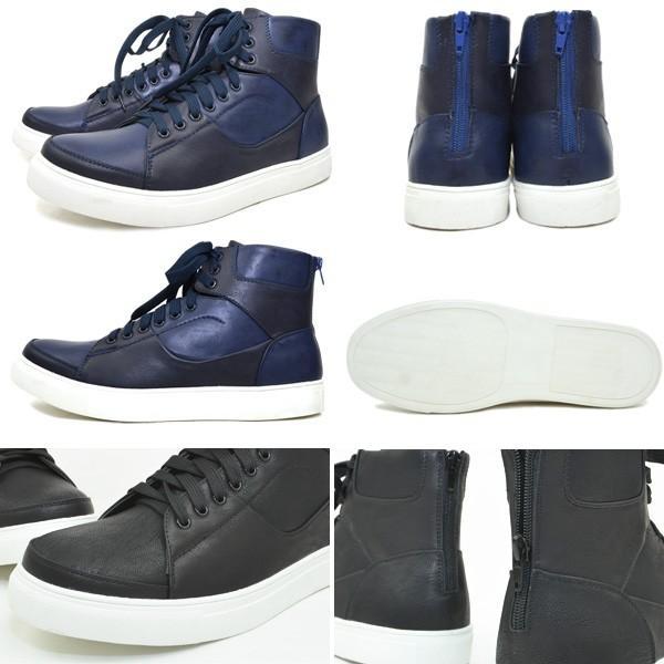 ハイカット スニーカー バックジップ シューズ メンズ HighCutSneaker|pennepenne|03