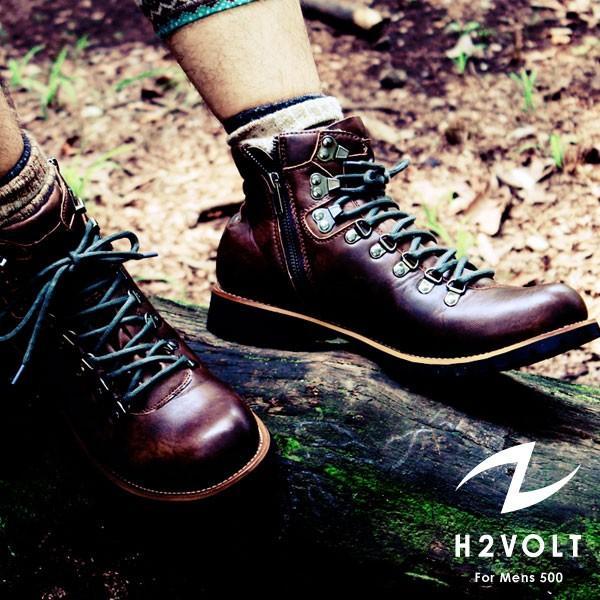 ブーツ メンズ メンズブーツ マウンテンブーツ エイチツーヴォルト H2VOLT500 ショートブーツ|pennepenne|03