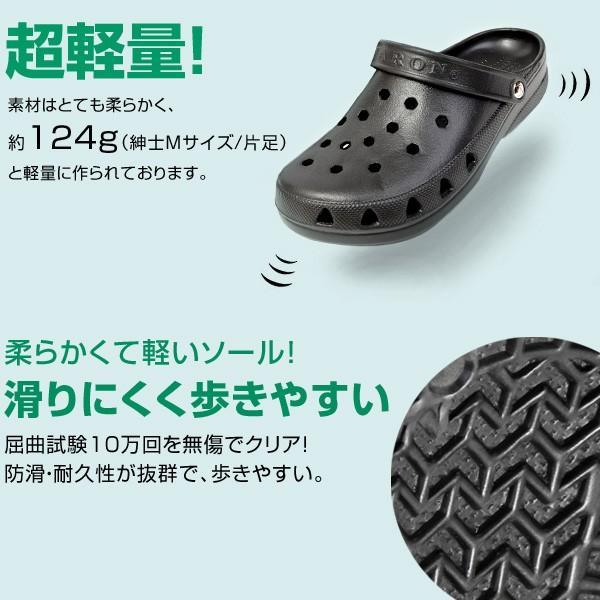 メンズ  日本製 2WAY 新素材 サンダル 抗菌 防臭 超軽量 防滑 3E EVARON エバロン 黒 白 SA3 pennepenne 05