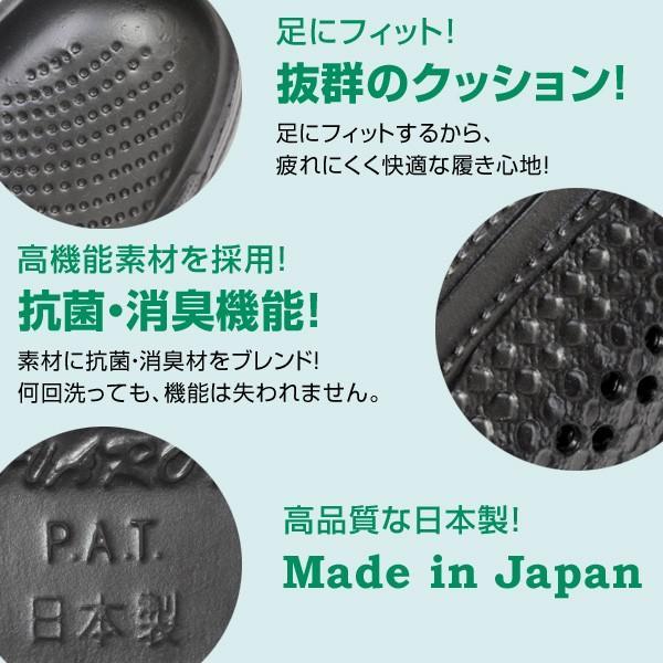 メンズ  日本製 2WAY 新素材 サンダル 抗菌 防臭 超軽量 防滑 3E EVARON エバロン 黒 白 SA3 pennepenne 06