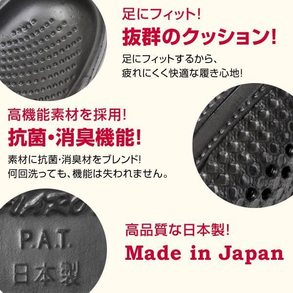 レディース  日本製 2WAY 新素材 サンダル 抗菌 防臭 超軽量 防滑 3E EVARON エバロン 黒 白 SA8|pennepenne|06
