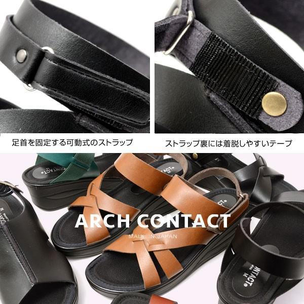 日本製 レディース サンダル 吸汗 放湿 防滑 ヒール6cm 痛くない  カジュアル オフィス ARCH CONTACT アーチコンタクト 93400 93401 93403 pennepenne 11