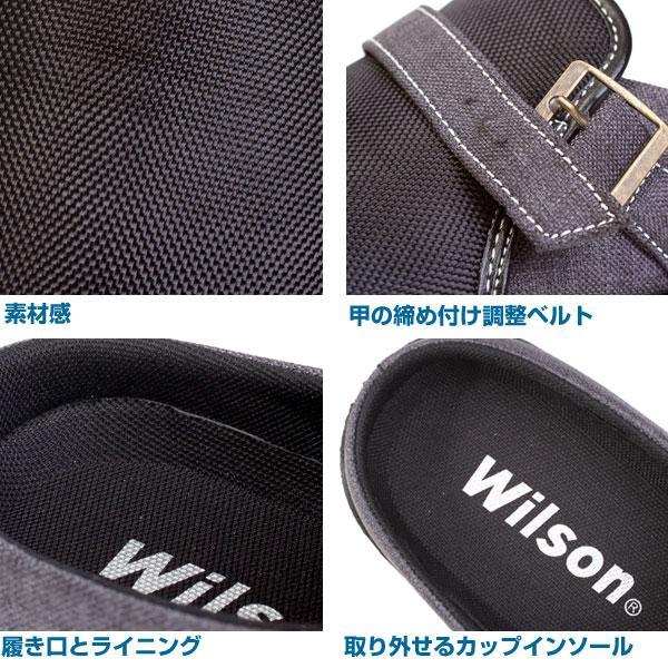 Wilson ウィルソン メンズ サボサンダル クロッグ サンダル 2E 2201 2202|pennepenne|05
