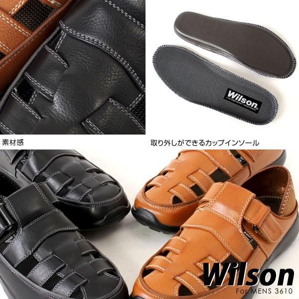 メンズ カジュアルシューズ ドライビングシュー 2WAYズ 超軽量 Wilson ウィルソン 3610 pennepenne 06